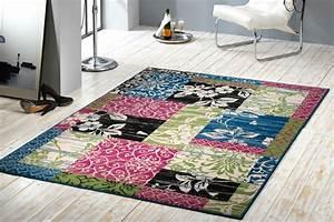 Grosser Teppich Wohnzimmer : gro er design patchwork teppich paradise 160x230 cm l ufer teppiche bunt ebay ~ Sanjose-hotels-ca.com Haus und Dekorationen