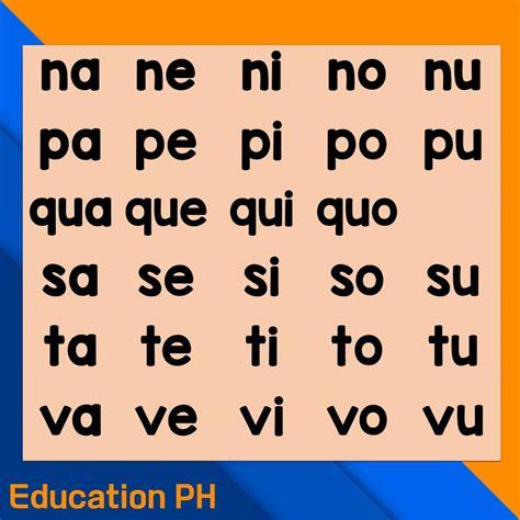 kindergarten worksheets syllable reading education ph