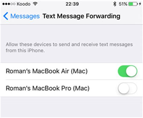 how to forward a text on an iphone forward sms text messages from the iphone to your mac mactip