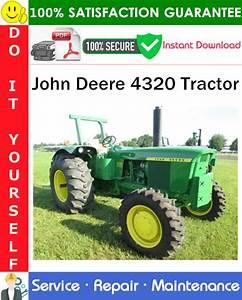 John Deere 4320 Tractor Service Repair Manual Pdf Download