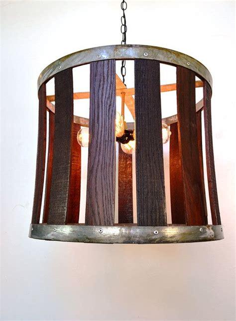 1000 ideas about wine barrel chandelier on