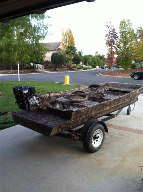 Fishing Boat Registration Bdo by 12 Custom Welded Duck Boat And 12hp Mud Buddy Saltwater