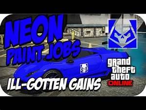 GTA 5 line Neon Paint Jobs Bright Blue Beyond Neon