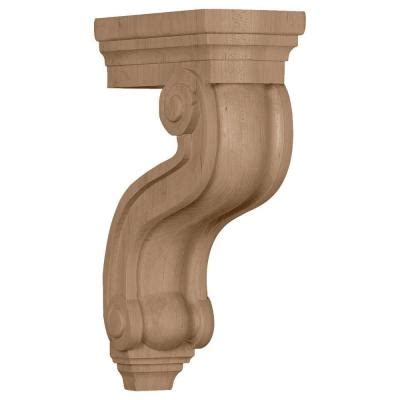 Hollow Corbels by Ekena Millwork 3 7 8 In X 8 In X 13 In Unfinished Wood