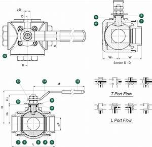503f  Multi-port 3-way Ball Valve  1  4 U0026quot
