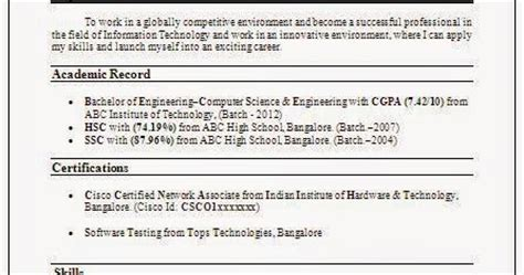 Cse Resume Format by 10000 Cv And Resume Sles With Free Cse Resume Sle