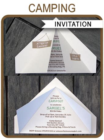 camping tent invitation template camping invitations
