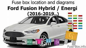 Fuse Box Location And Diagrams  Ford Fusion Hybrid    Energi  2016-2019