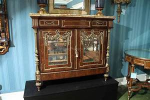 Napoleon side cabinet french server with brass mountings for Dining room side cabinets