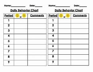 Classroom Conduct Chart Student Daily Behavior Chart By Primary Scholars Tpt