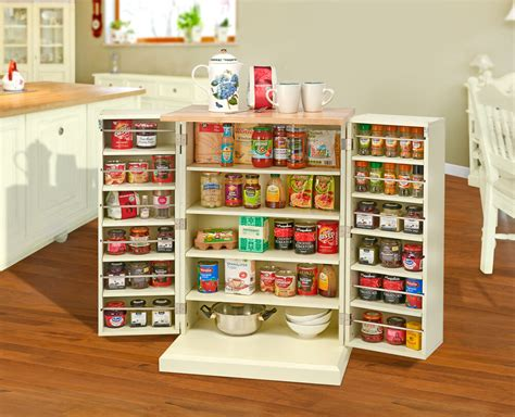 freestanding pantry cupboard storage unit cabinet solid