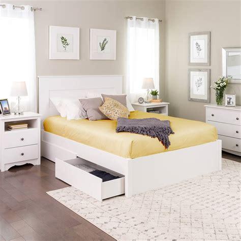prepac select queen  post platform bed   drawers