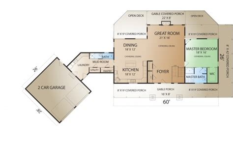 ranch house plans   law apartment ranch house plans  breezeway ranch floor plans