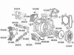 Zylinderkopf Polini Aluminium 107ccm 52mm 4v F U00fcr Honda Xr