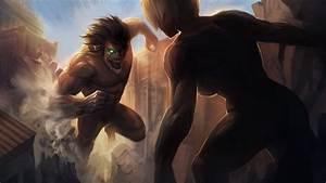 Attack on Titan - Eren vs Annie by MoshYong on DeviantArt