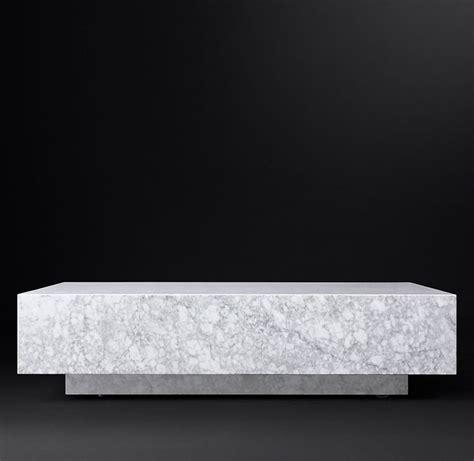 Beautiful restoration hardware 80 marble coffee table. Marble Plinth Square Coffee Table in 2020 | Coffee table square, Coffee table, Rh modern