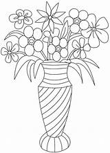 Flowers Bouquet Printable Coloring Flower Colouring Adults Adult Vase Roses Detailed Sheets Floral Stencil Vases Rose Bouquets Getdrawings Outline Awesome sketch template