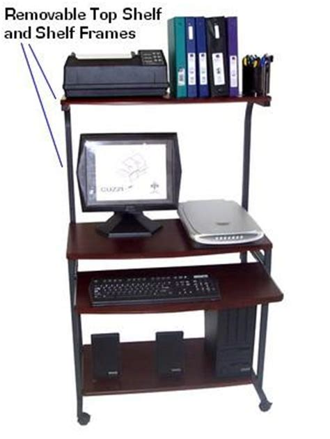 computer desk with hutch and printer shelf sts 7801 compact portable computer desk w hutch shelf