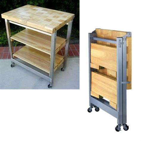order today deluxe folding kitchen island natural
