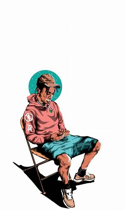 Wallpapers Dope Cartoon Travis Scott Iphone Rapper