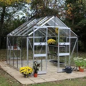 Serre Acier Verre : serre de jardin blockley verre tremp 9 7 m kit ~ Premium-room.com Idées de Décoration