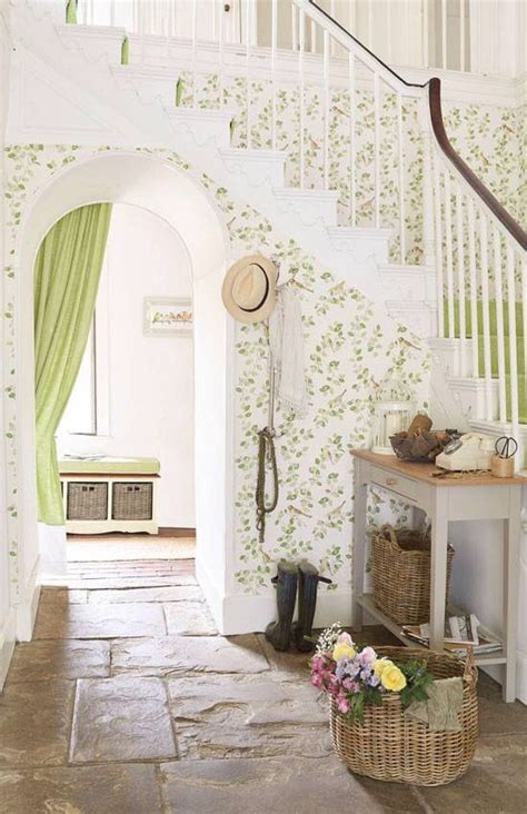 Cottage Style Wallpaper by Wallpaper For The Home Country Hallway Cottage