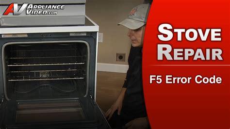 whirlpool stove lock f5 door self code error range gas troubleshooting clean appliance appliancevideo