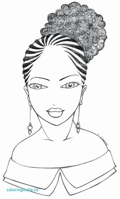 African American Coloring Pages Drawing Woman History