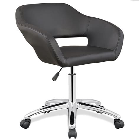upholstered desk chair with arms leick black upholstered arm office chair home