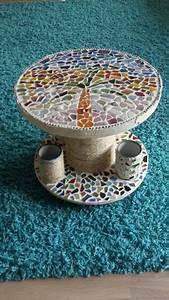 Tisch Aus Kabeltrommel : kabeltrommel mosaik tisch diy m bel pinterest mosaik mosaik diy und tisch ~ Orissabook.com Haus und Dekorationen