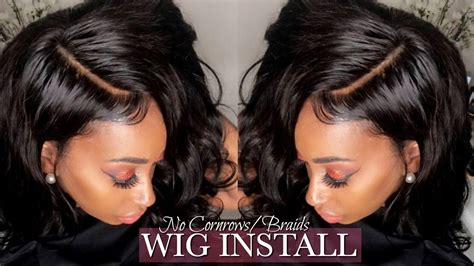 Glueless Lace Wig Install No Leave Out! No Cornrows! No