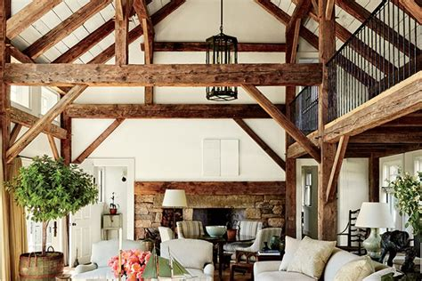 wood living room wood beam ceiling ideas with a touch of rustic charm