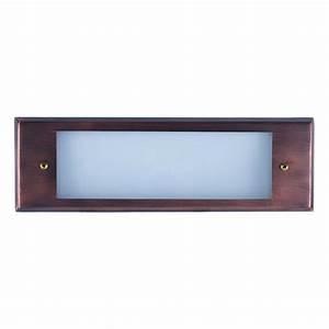 Outdoor low voltage antique bronze glass lens rectangle