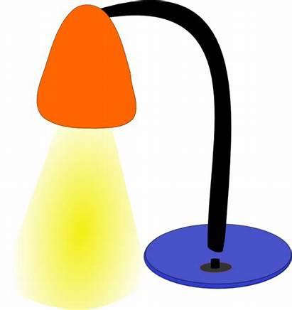 Lamp Clip Clipart Bulb Clker Desktop