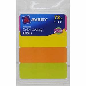 Avery Rectangular Color Coding Labels 6722 1