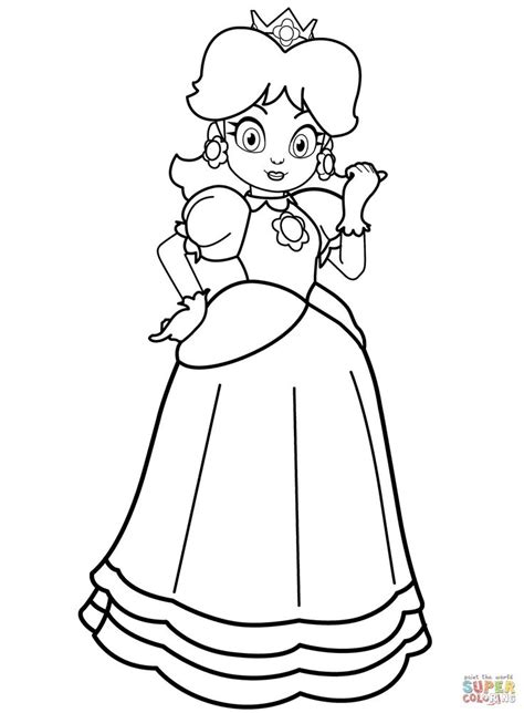 princess daisy coloring page   thousands