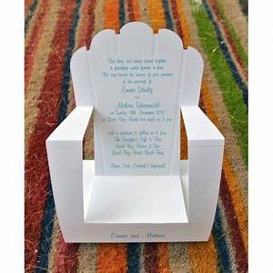 pop up deck chair would make a nice garden party With pop up beach wedding invitations