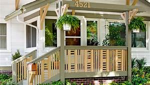front porch railing With 4 creative porch railing ideas for your house