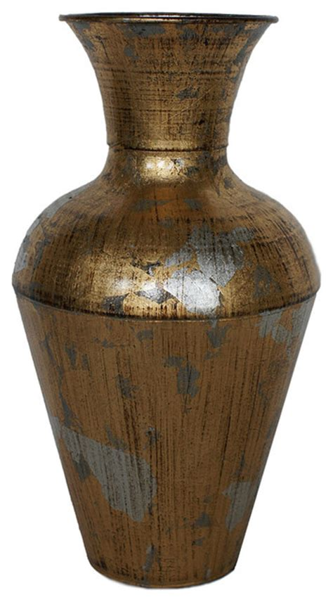 Gold Leaf Vases by Distressed Gold Leaf Vase Contemporary Vases By Cheungs
