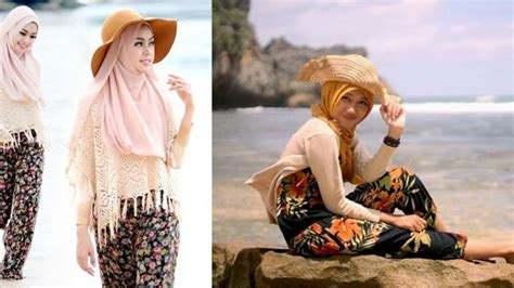 hijab  liburan  pantai jual jilbab