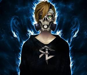 Blonde, Gas, Masks, Anime, Skull, Fire, Reinelex, Hd, Wallpapers, Desktop, And, Mobile, Images, U0026, Photos