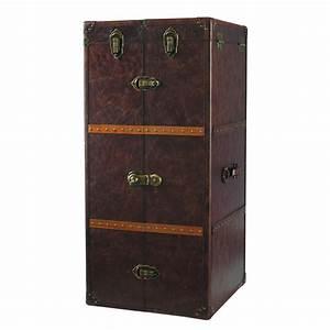 Meuble Bar Maison Du Monde : meuble de bar avec tiroirs en bois et cuir l 60 cm jules ~ Nature-et-papiers.com Idées de Décoration