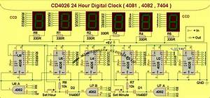 Zegar Led Na Uk U0142adach Z Serii 4000