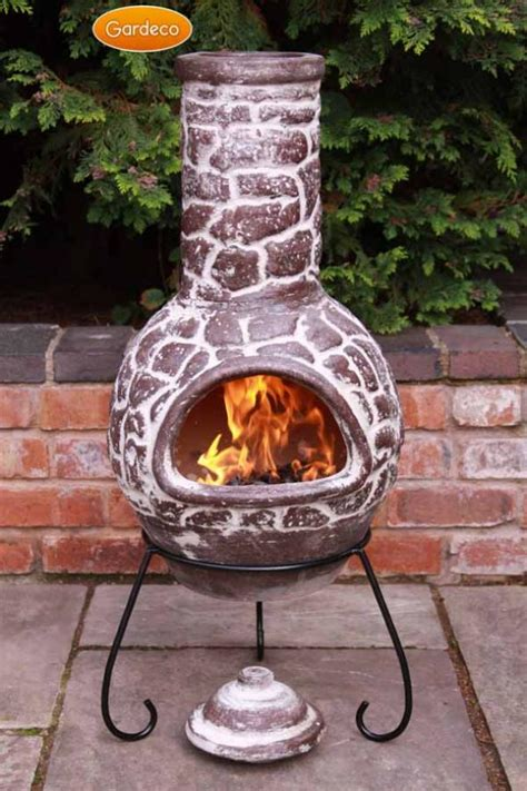 Chiminea Lids - gardeco large cantera mexican chiminea lid stand