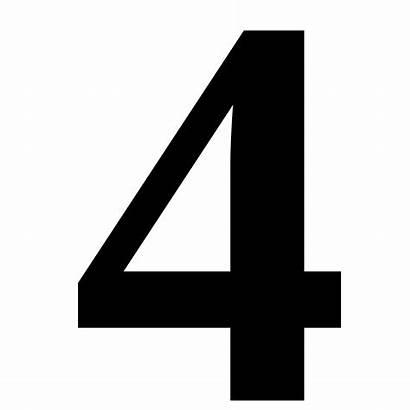 Numero Quattro Svg Quatre Angka Wikipedia Clip