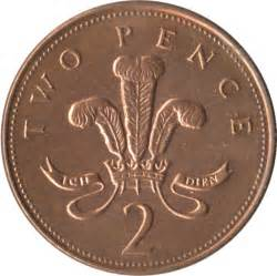 Two Pence Elizabeth II Coin Value