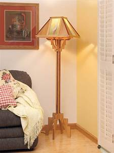 Arts & Crafts Floor Lamp Plans Wood Projects Online