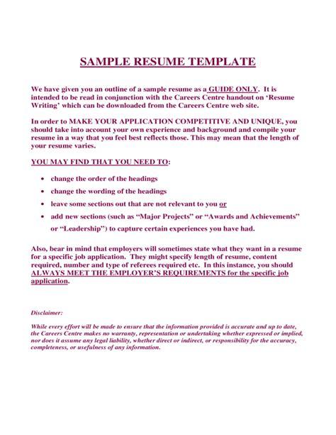 sle resume template free