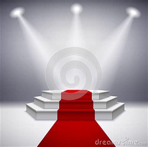 illuminated stage podium  red carpet stock vector