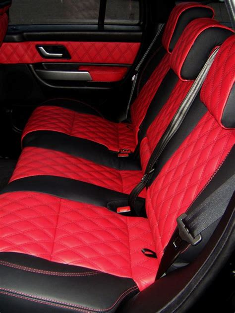 Range Rover Sport Redblack Quilted Leather Interior